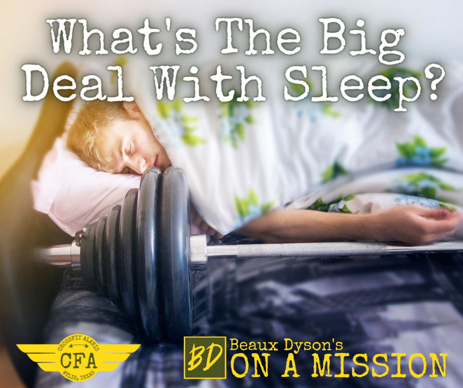 What's the Big Deal With Sleep?